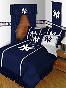 NEW YORK YANKEES QUEEN Size 14 Pc Bedding Set Bed in a Bag (Comforter, Sheet Set, 2... by NEW YORK YANKEES