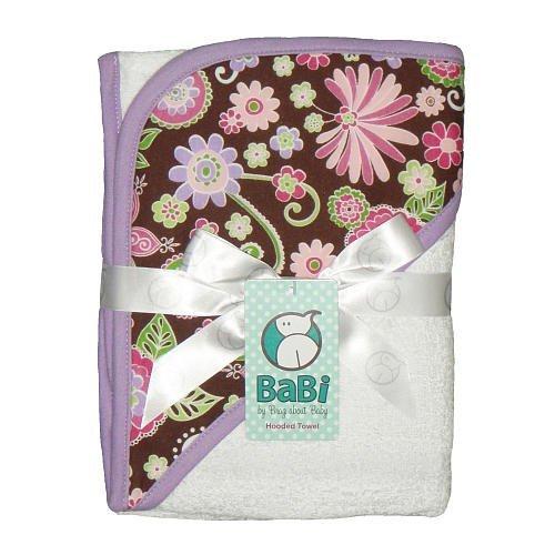 Tickle Fancy Hooded Towel - White - 1