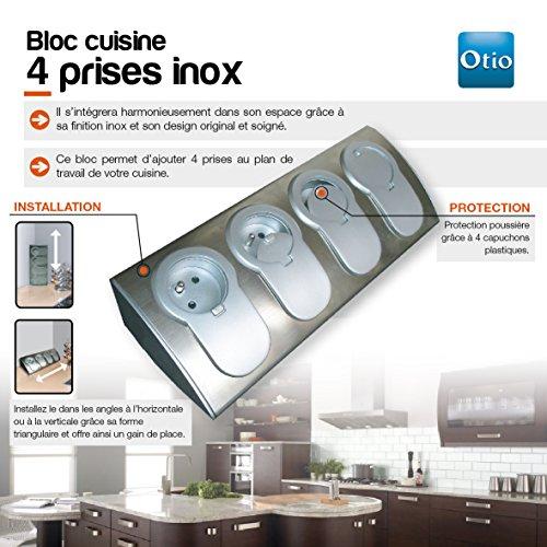 bloc prise cuisine inox id es de. Black Bedroom Furniture Sets. Home Design Ideas
