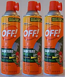 off yard and deck insect repellent pack of 3 patio