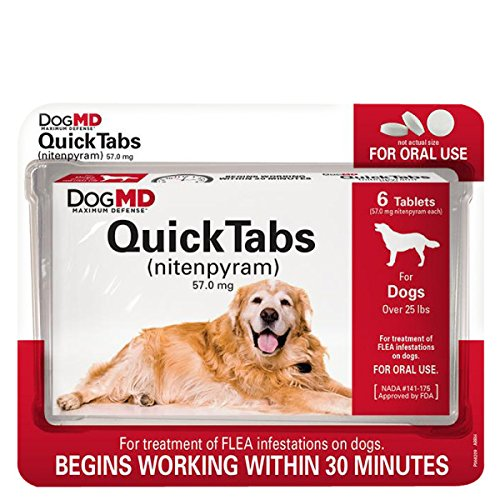 Dog MD Maximum Defense QuickTabs Nitenpyram Flea Treatment (Capstar Flea Control compare prices)