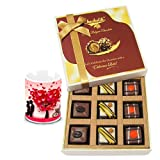 Chocholik Luxury Chocolates - Enticing Collection Of Pralines Chocolates With Love Mug