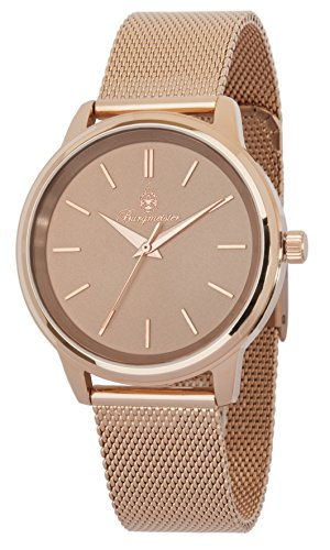 Burgmeister Women's Quartz Watch with Rose Gold Dial Analogue Display and Rose Gold Metal Bracelet BMS02-368