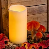 LED-Wachskerze h 20 cm warmweiß, Flackerlicht,...