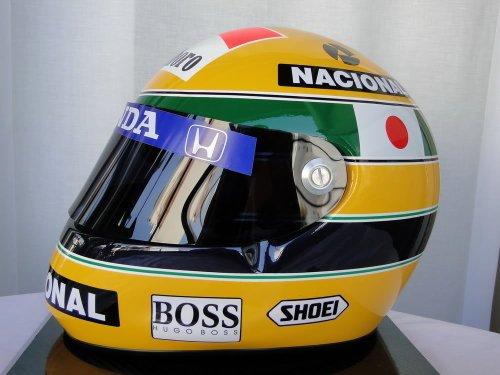アイルトン セナ AYRTON SENNA 1992年 鈴鹿 F1日本GP仕様 レプリカヘルメット Lサイズ(59-60cm)