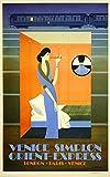 Orient-Express Italy Paris London Venice France England European Travel Poster