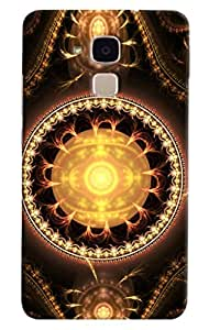 Omnam Gems Effect In Yellow Printed Designer Back Cover Case For Huawei Honor V8