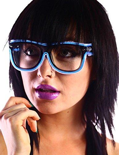 Emazing Lights 2-Color Light Up EL Wire Wayfarer Rave Glasses