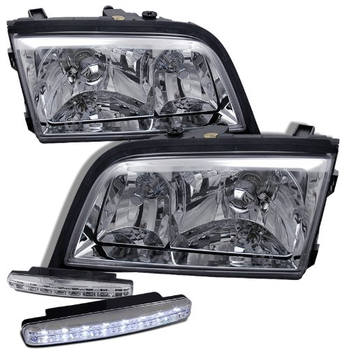 1994-2000 Mercedes Benz W202 Headlights Lamps + 8 Led Fog Bumper Light (W202 Headlights compare prices)