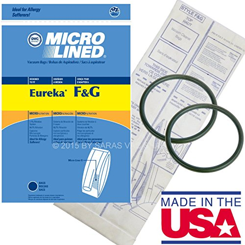 10 Bags for Eureka Style F&G Vacuum Cleaner F G Sanitaire Commercial + 2 Belts (Eureka F & G Belt compare prices)