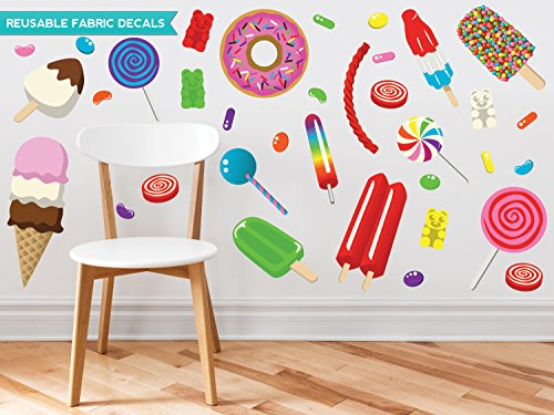 Sunny Decals Candy Fabric Wall Decals