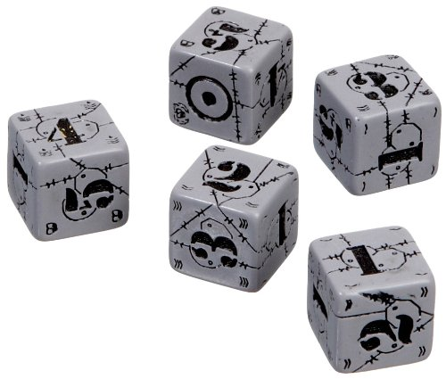 Axis & Allis - United Kingdom Dice: Gray/Black (5) Board Game