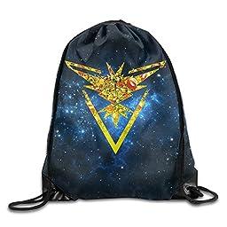 GYM Pokemon Go Team Instinct Sprite Drawstring Backpack Bag
