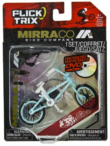 "Gamebino by Mirraco Bike Company: Flick Trix ~4"" BMX Finger Bike w/ DVD"