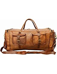 Digital Rajasthan Real Goat Leather Large Handmade Travel Medium Luggage Vintage Genuine Square Bag