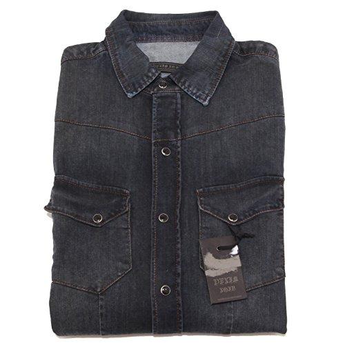 2321P camicia jeans DANIELE ALESSANDRINI camicie uomo shirt men [L]