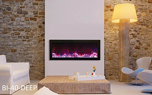 Amantii Panorama Deep Electric Wall Mount Fireplace with Surround