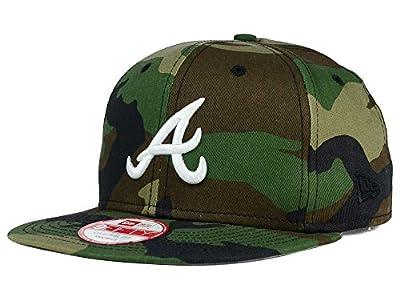 New Era 9Fifty MLB Atlanta Braves Hat State Clip Snapback Woodcamo One Size Cap