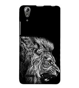 Fuson Premium Back Case Cover Fierce Tiger With black Background Degined For Lenovo A6000