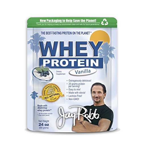 Jay Robb - Grass-Fed Whey Isolate Vanilla Protein Powder, Outrageously Delicious, 24 ounces