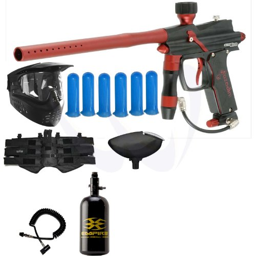 Azodin BLITZ Evo Electronic Paintball Gun HPA Power Package - Black Red jt paintball ready 2 play marker kit outkast power package