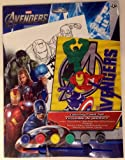 Avengers Coloring Paint Set with Captain America and Iron Man