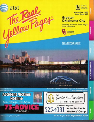 The Real Yellow Pages - Greater Oklahoma City (Including Business White Pages, 2008-2009)