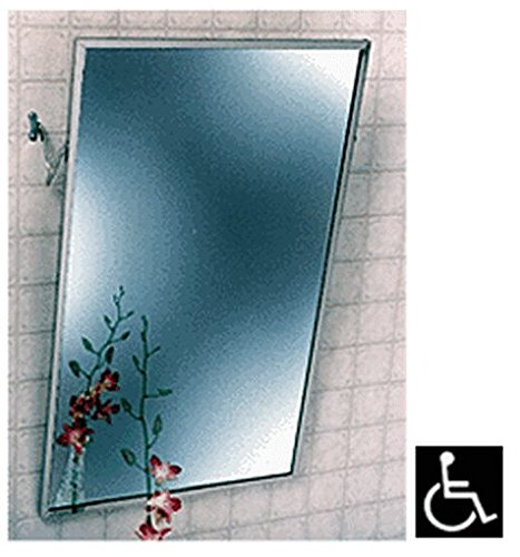 "16"" X 24"" Stainless Steel Adjustable ""Tilt"" Clear Mirror front-956839"
