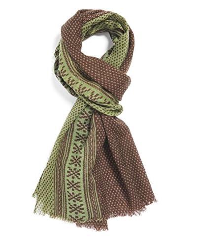Mila Schӧn Concept Stola Dis.Knit Verde Unica