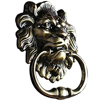 Door Knocker Lion Head Handle Pull-Antique-Summershen