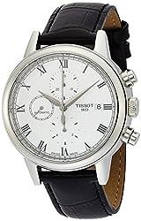 Tissot Carson White Dial Black Leather Automatic Men's Watch T0854271601300