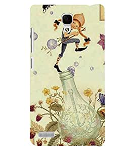 Fuson 3D Printed Cartoon Designer back case cover for Xiaomi Redmi Note - D4317