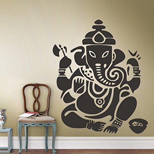 """Adesivo da parete adesivo da parete, motivo: Ganesh Home Wall Decor-Buddhism Buddha OM India Yoga namaste successo god lord, Vinile, nero, 33""""hx40""""w"""