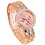 Fanmis Rose Gold Luxuxy Geneva Dial Quartz Women Full Steel Watch Dress Watches Lady Fashion Wris...