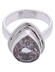 925SilverCollection Silver Plated Amethyst Stone Designer Ring Size 9.0