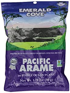 Emerald Cove Silver Grade Pacific Arame (Dried Seaweed), 1.76-Ounce Bags (Pack of 6) by Emerald Cove