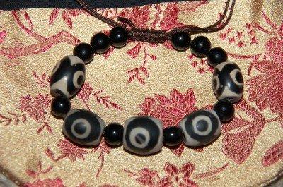 Tibetan Large Dzi Beads Wrist Mala/ Bracelet for Meditation
