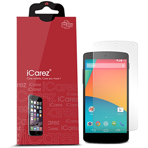iCarez LG Google Nexus 5 [HD Anti-Glare] Premium Screen Protector [ Unique Hinge Install Method With Kits ] 3-Pack with Lifetime Replacement Warranty (Nexus 5 Warranty compare prices)