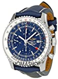 51kblYSwsuL. SL160  Breitling Mens A2432212/C651 Navitimer World Blue Chronograph Dial Watch