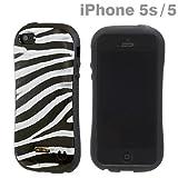 docomo au SoftBank iPhone5 iPhone5S 対応 iface First Class Safari iPhone ハード ケース カバー ジャケット (Abena/シマウマ)