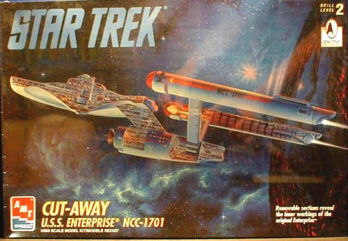 AMT Retl Star Trek Cut-away U.S.S. Enterprise NCC-1701 1/650 Scale Model Kit