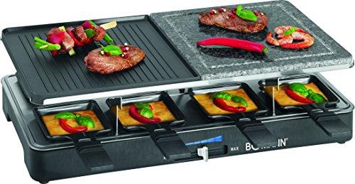 bomann-rg-2279-cb-raclette-grill-con-piedra-natural-y-placa-reversible-8-personas-1400-w