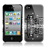 TaylorHe Black and White CITY SKYLINE iPhone 4S iPhone 4 Hard Case Colourful with Patterns Full Body Printed Made in Great Britain Top Quality