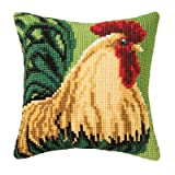 Cockerel Chunky Cross Stitch Cushion Front Kit