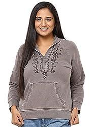 GRAIN Dark Brown Color Regular fit Cotton Jackets for Women