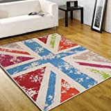 Flair Rugs Retro Funky Cool Britannia Rug, Multi, 80 x 150 Cm