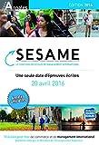 Concours Sesame annales 2016 : Sujets et corrigés officiels...