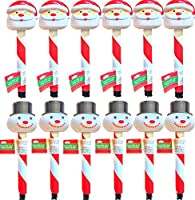 Christmas Landscaping Garden Christmas Decorations House Decorations Christmas Solar Stake Light Santa Claus and the Snowman Decorations All Solar
