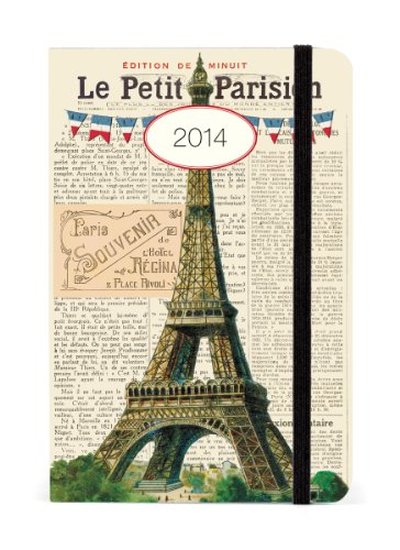Cavallini 2014 Weekly Planner, Paris Eiffel Tower