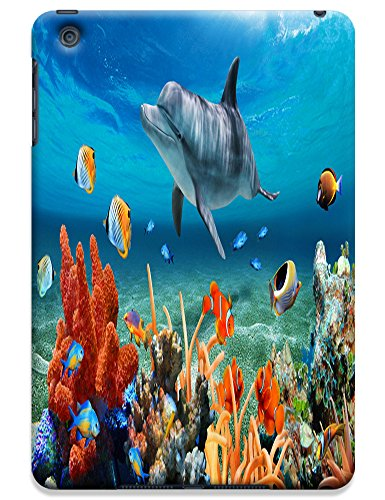 Fantastic Faye Cell Phone Cases For iPad mini No.9 The Beautiful Cute Design With Colorful Ocean Fish Jellyfish Dolphin Coral